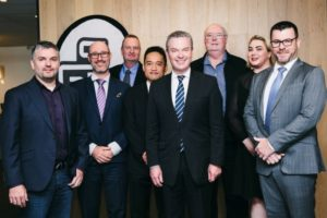 The Hon. Minister Pyne, Minster for Defence meets with GreyScan and Grey Innovation.