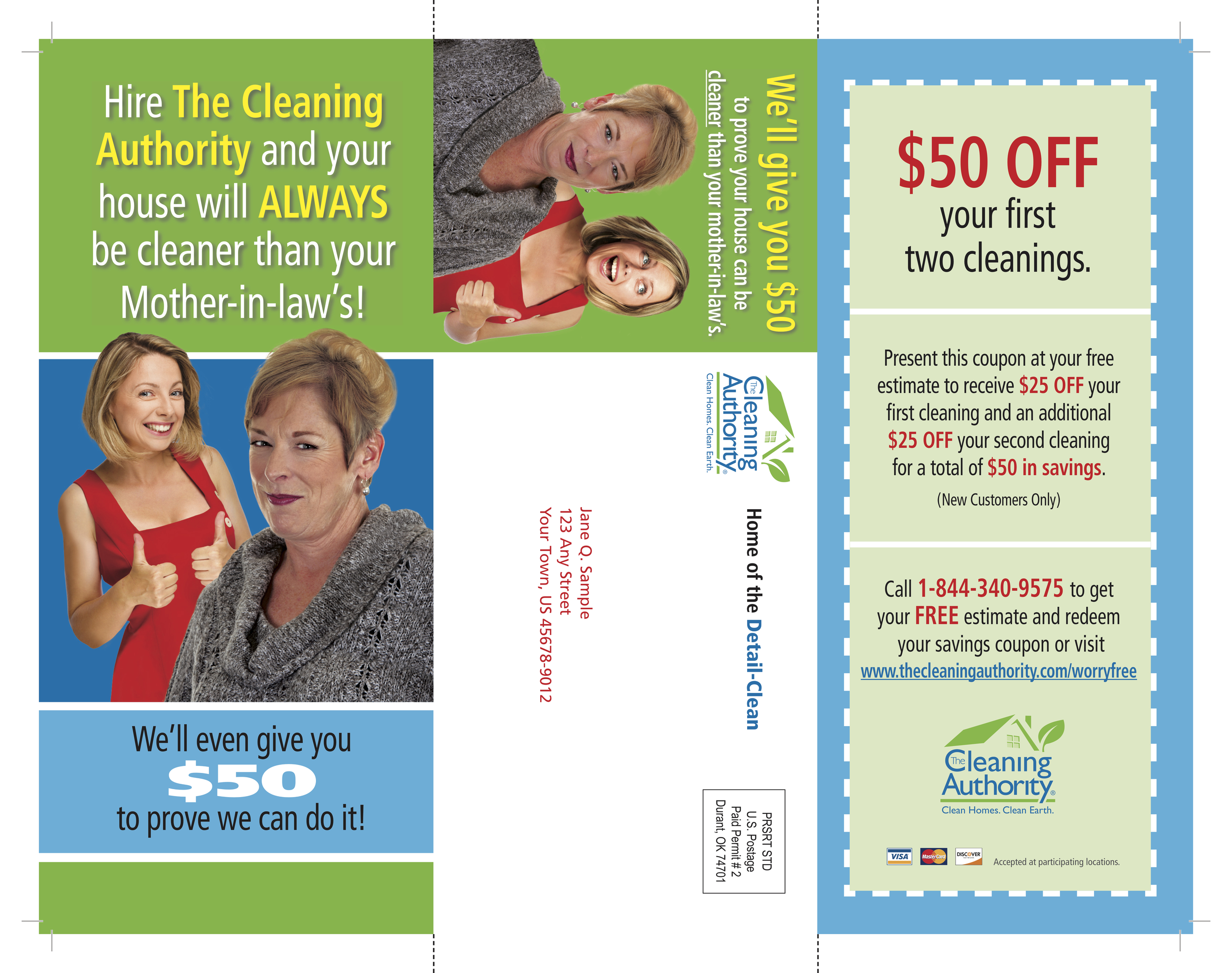 The Self Mailer Front Side