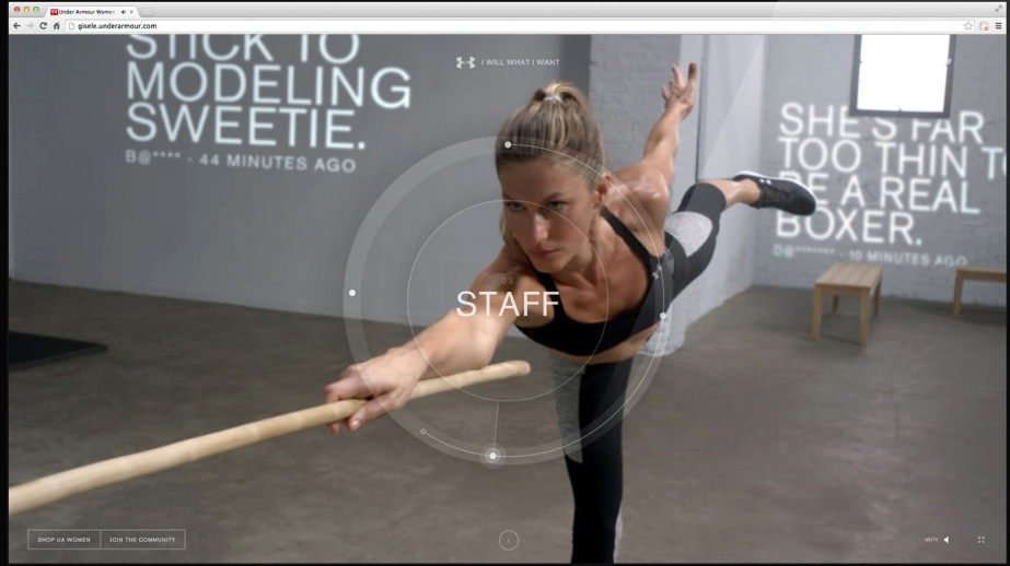 Giselle—I Will What I Want immersive web platform. With Droga5 and Active Theory. Real time data in 3d space.