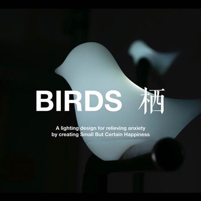 Birds, designed by second year @weirunshi creates a connection to nature for young people feeling disconnected and unmotivated with interactive light-up birds. Birds is one project part of a larger thesis that looks at designing for the low-desire society in China. To learn more about Wei's thesis, join us tomorrow at the final thesis presentations! Link in bio.
