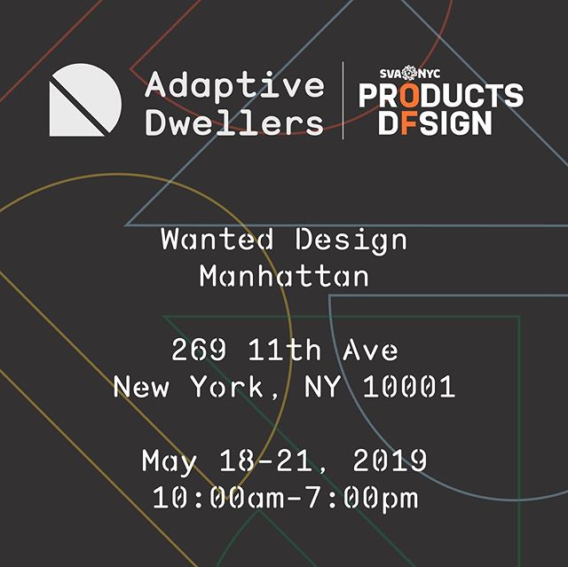Today through Tuesday check out the first years @adaptive_dwellers at @wanteddesign