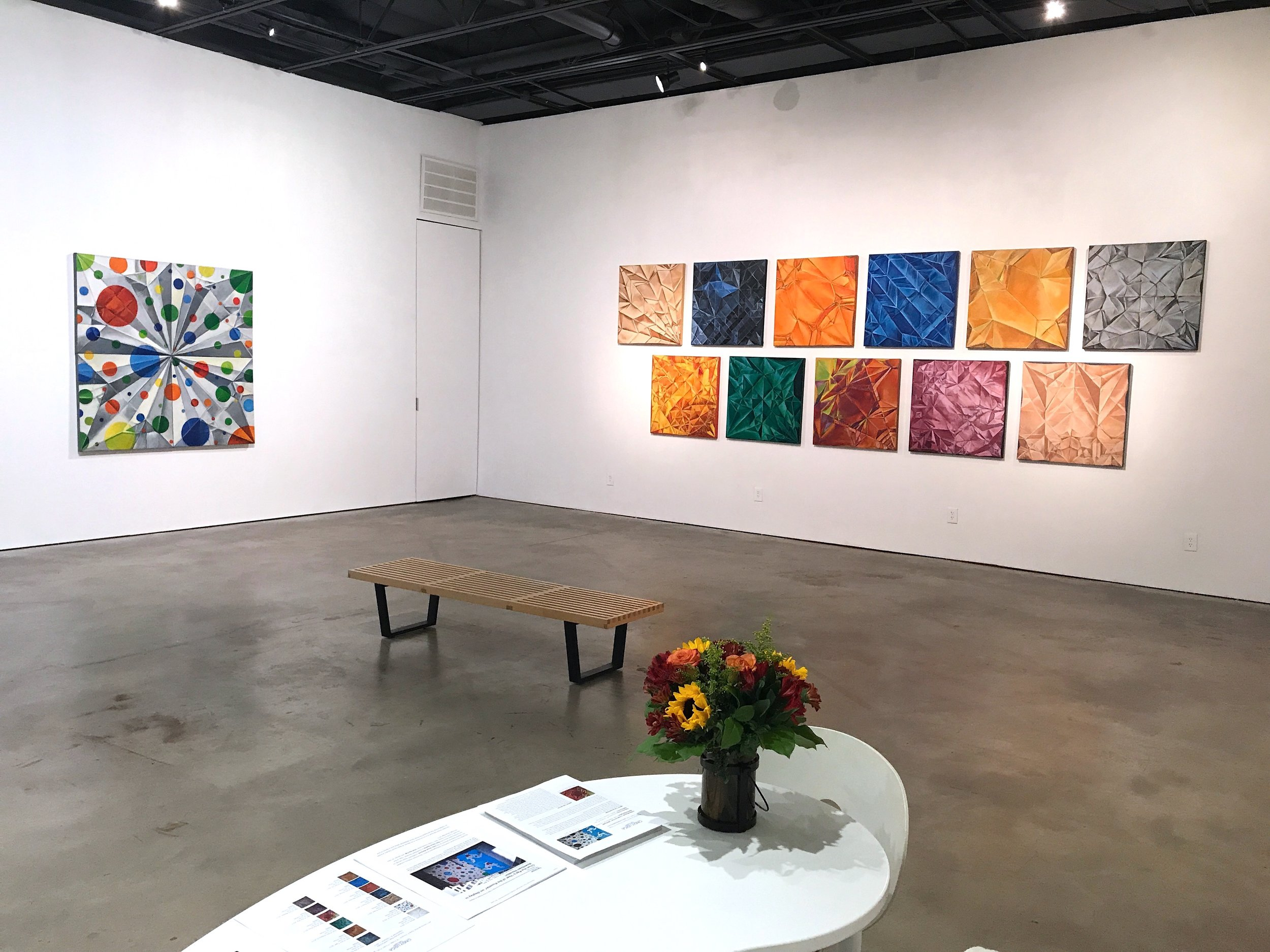 """""""Unfolded"""" solo exhibition with artwork by Chun Hui Pak (Sept 2017) at Cindy Lisica Gallery, 4411 Montrose, Houston TX"""