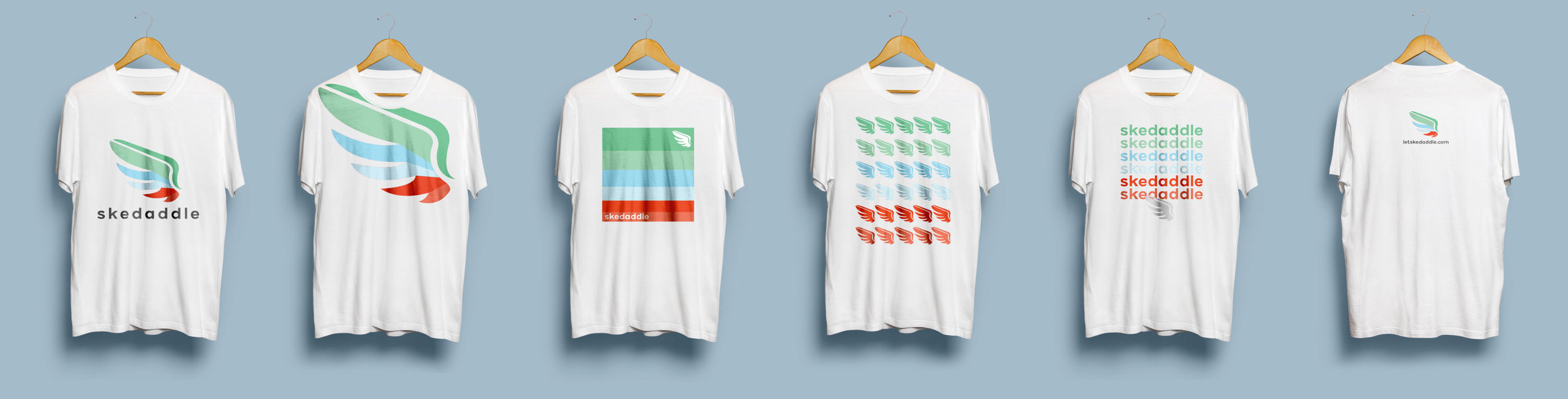 Initial t-shirt designs, we ended up going with #3 and the last one on the back.
