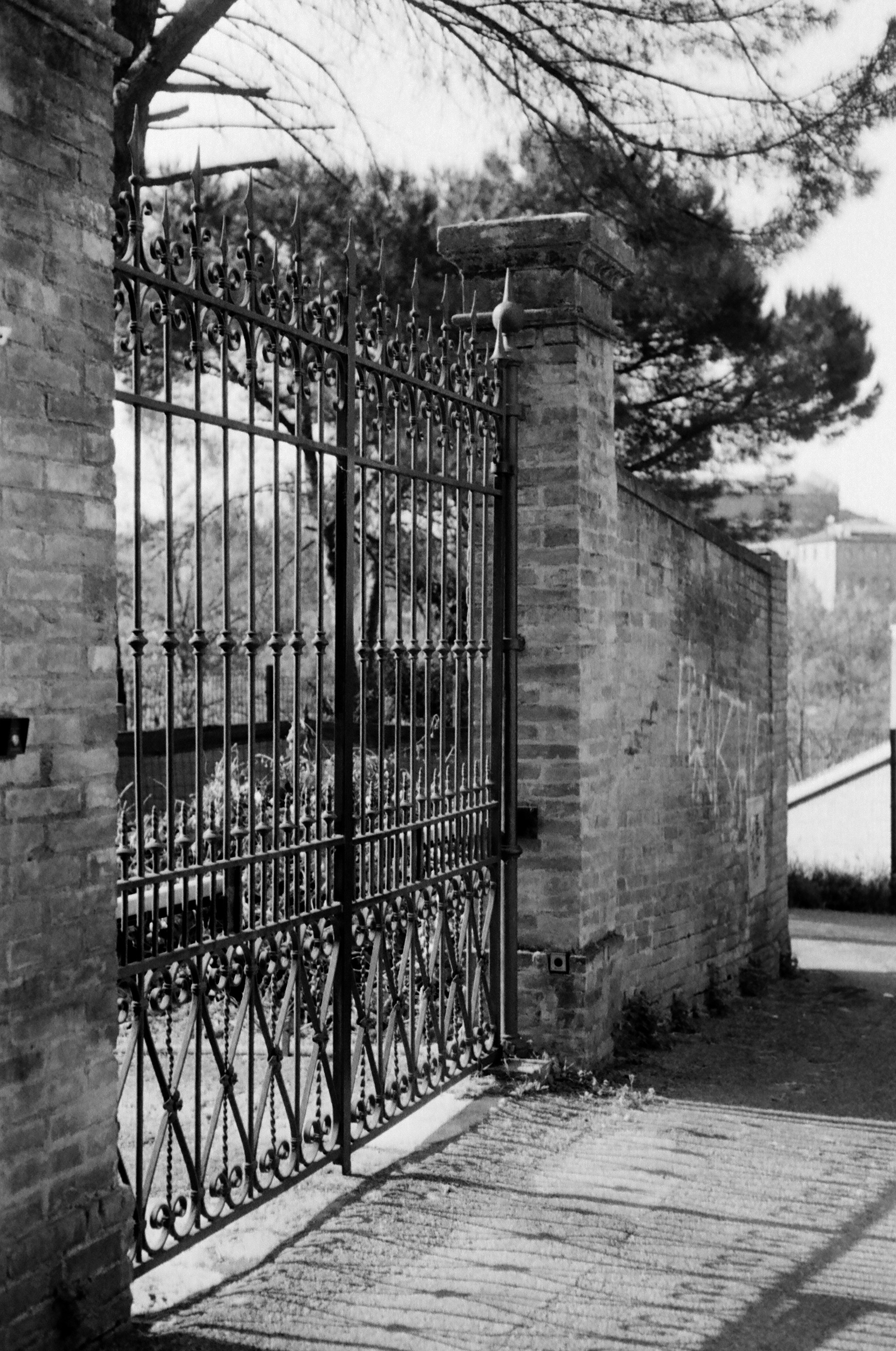 A gate in the southern part of Siena