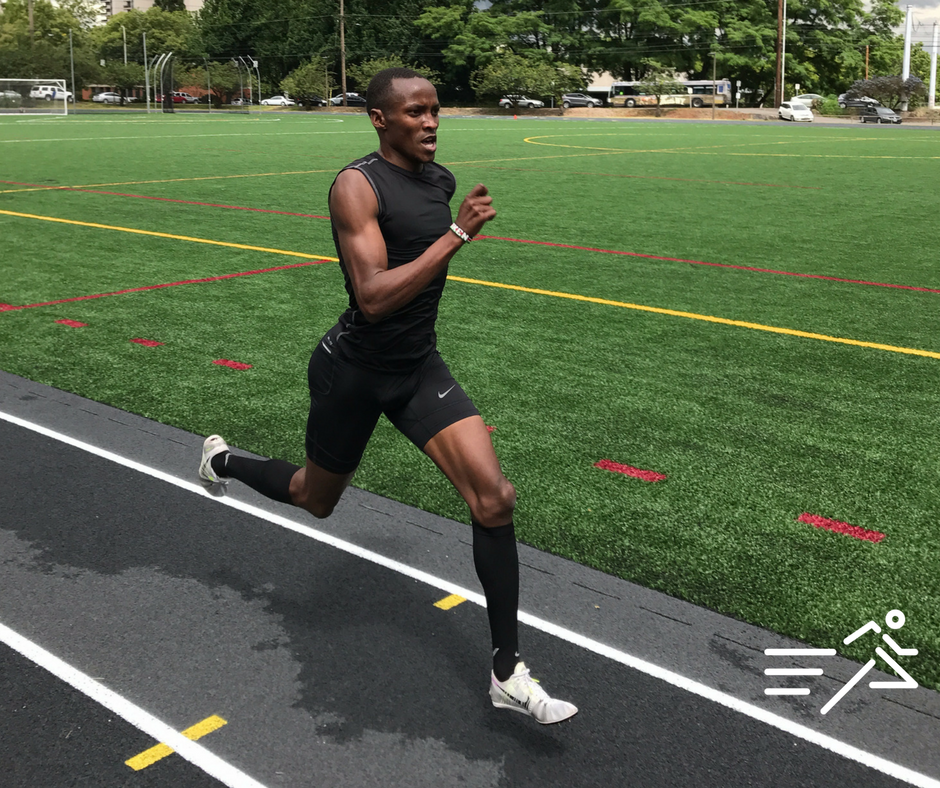 HPW alumnus,  Edward Kemboi , pictured in 2017 during one of his final workouts in Portland, Oregon before setting the HPW Pro 800m record of 1:44.71.