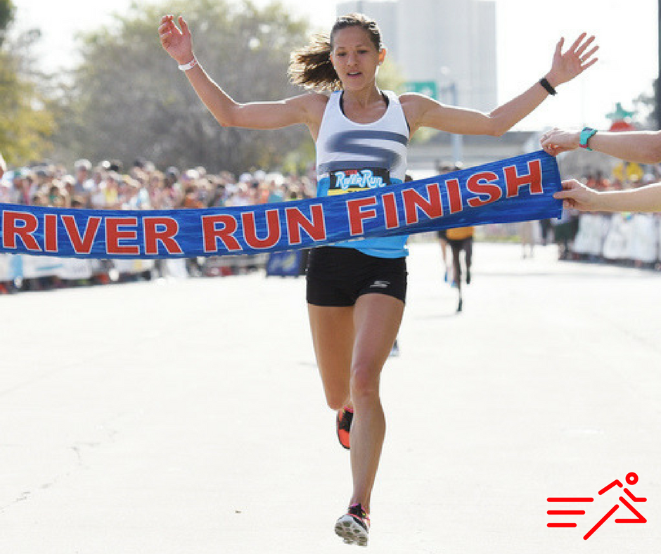 Tara Welling  pictured winning her first US national title, the 2016 USATF 15K Road Race Championships in Jacksonville, Florida.