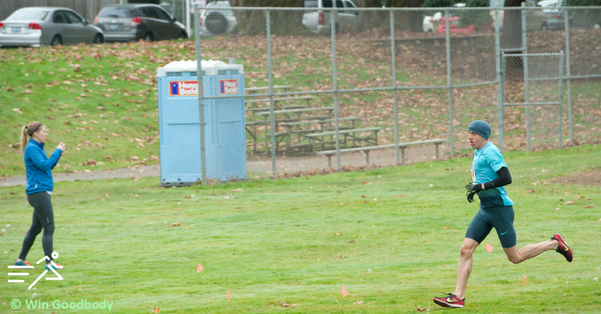 Alan Webb pushing himself only as he can at the 2013 USATF Oregon State XC Championships,his final victory as a professional runner.