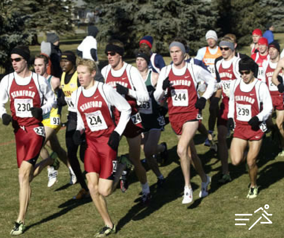 All seven of The Machine's runners tightly packedand leading the entire field at the 2003 NCAA XC Championships.