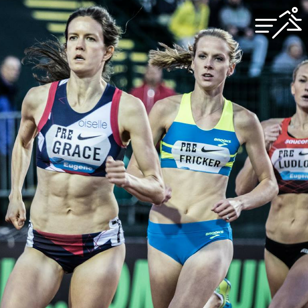 McKayla Fricker competes in the Women's National 800m race at the 2016 Pre Classic where she ran 2:01.53. Photo:   Howard Lao