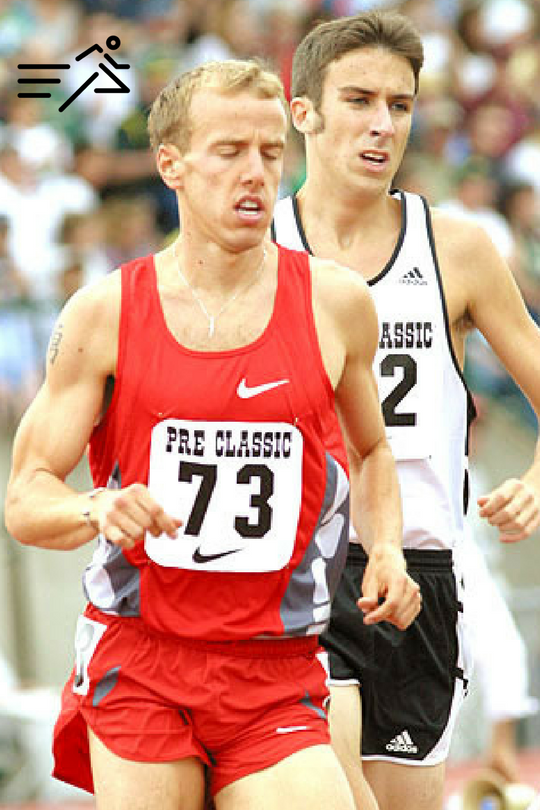 Yet to be friends and training partners, Alan Webb & Steve Magness compete against each other in the Bowerman Mile at the 2003 Pre Classic.
