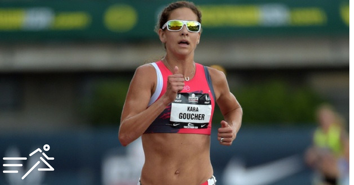 One of the all-time greats of American Distance running, Kara Goucher, competes at the 2015 USATF Outdoor Championships in the 10,000m.