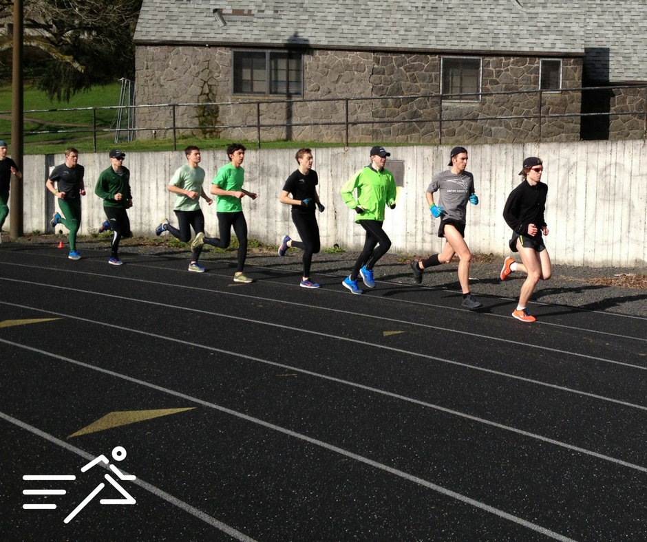 Neil Seibert (2nd from right, grey top) was as promising a miler Portland State has seen in the past decade.