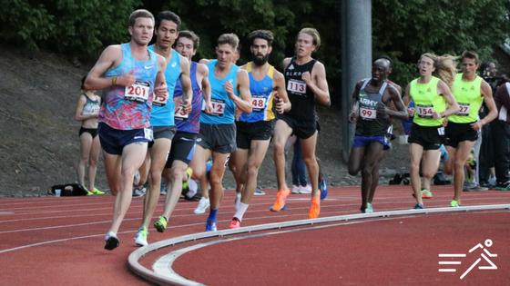The Men's High Performance 5,000m at the 2017 Portland Track Festival, led by former Pilot/Duck, Trevor Dunbar of Alaska lineage.