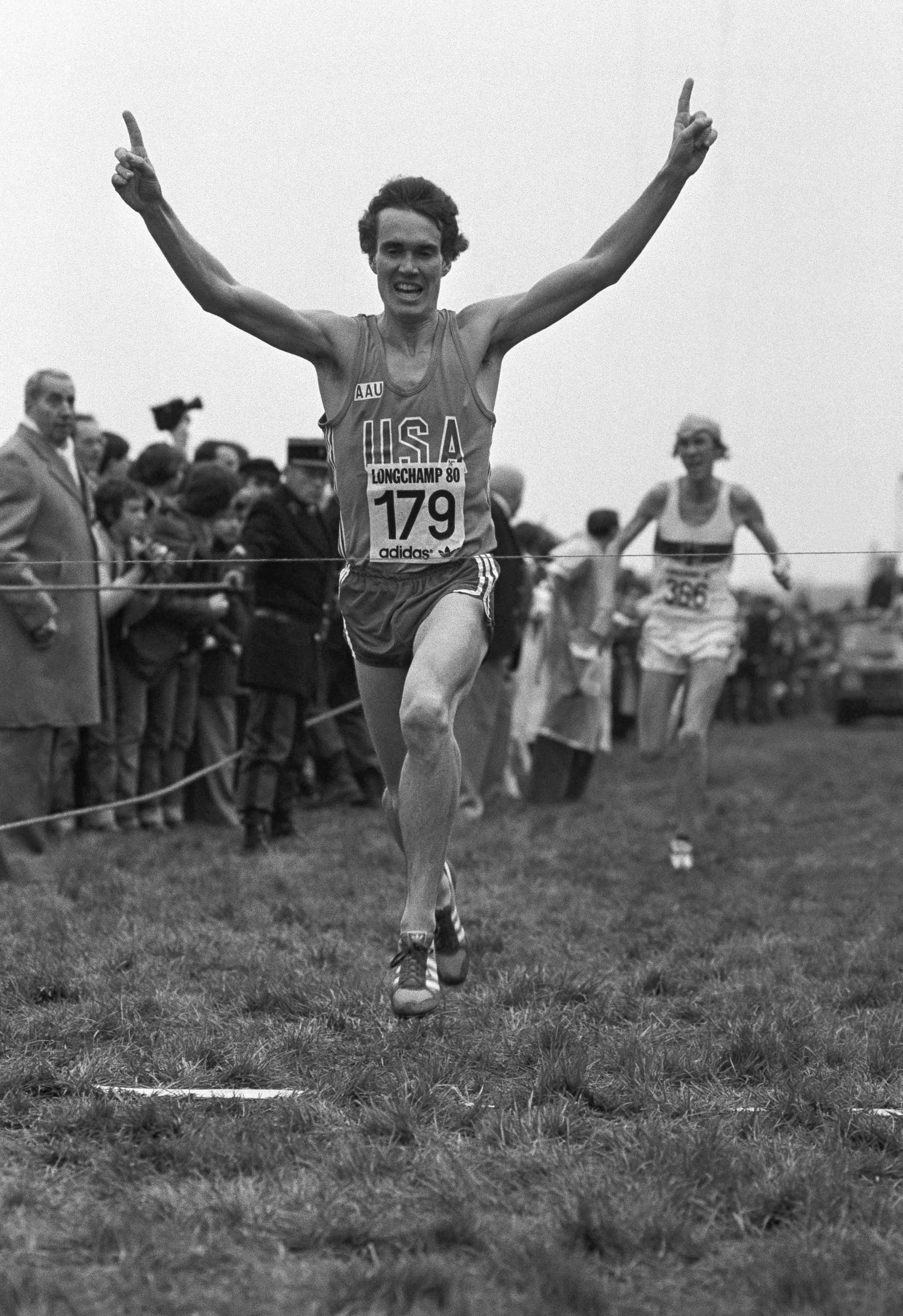 American Distance Legend Craig Virgin winning the 1980 World XC Championships.