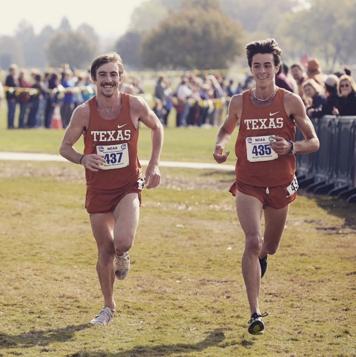 Ryan Dohner (right) with University of Texas college teammate Craig Lutz.