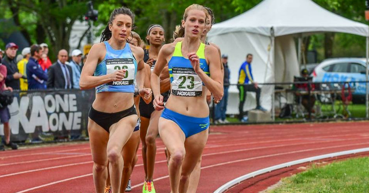 HPW Elite 1/2 Miler, McKayla Fricker (#23), running to victory in the 800m at 2016 Adrian Martinez Classic.
