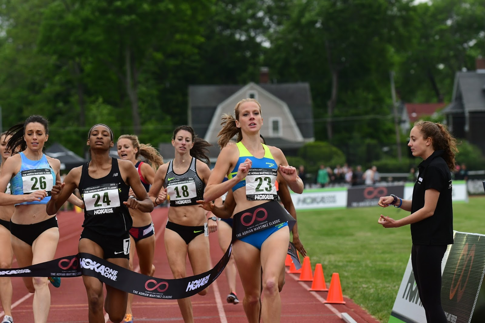 HPW Elite 2:00 1/2 Miler McKayla Fricker pictured winning the 800m at the 2016 Adrian Martinez Classic. photo:  Paul Merca