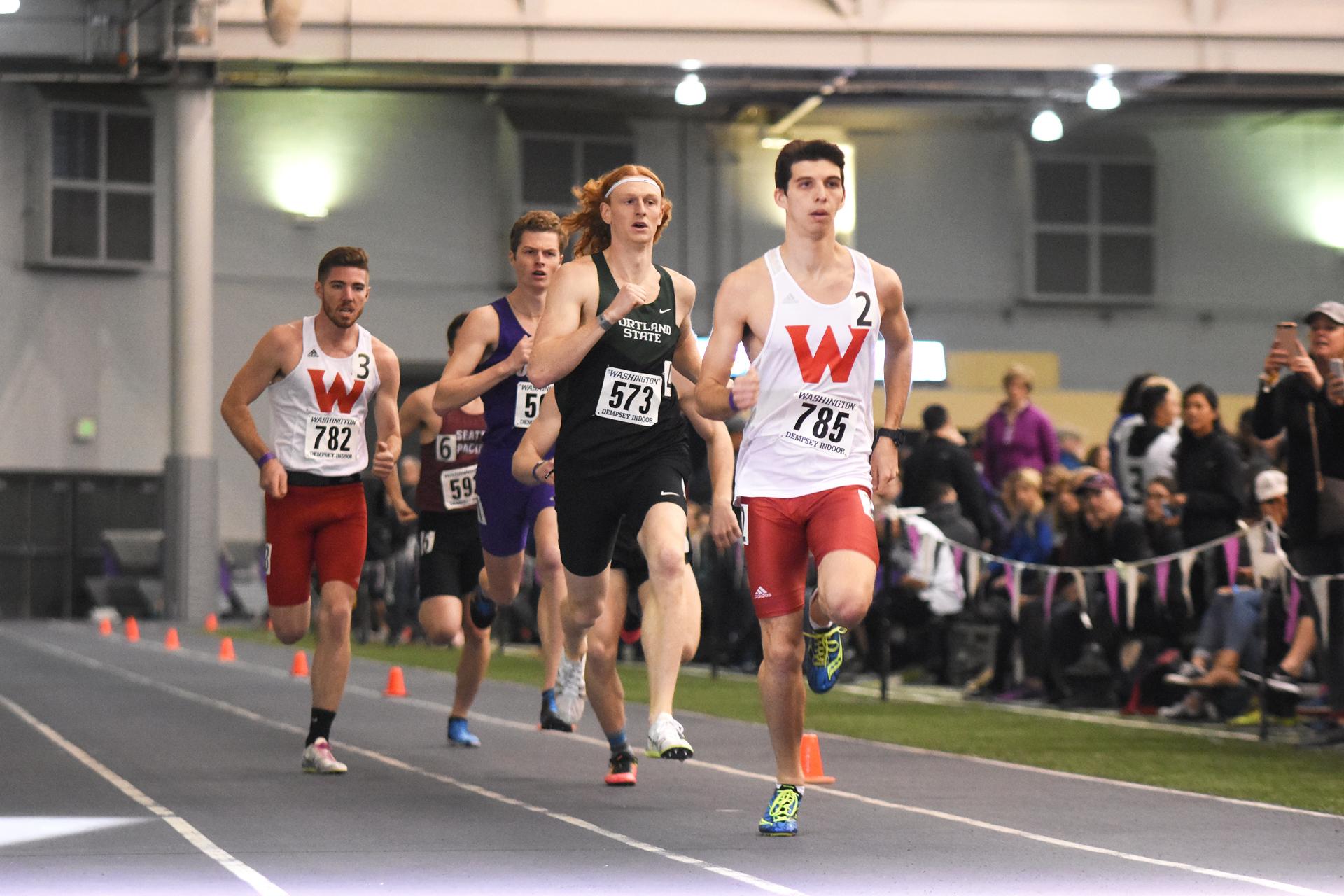 Multiple Big Sky Conference 800m medalist, Portland State's Ben Richardson (#573).