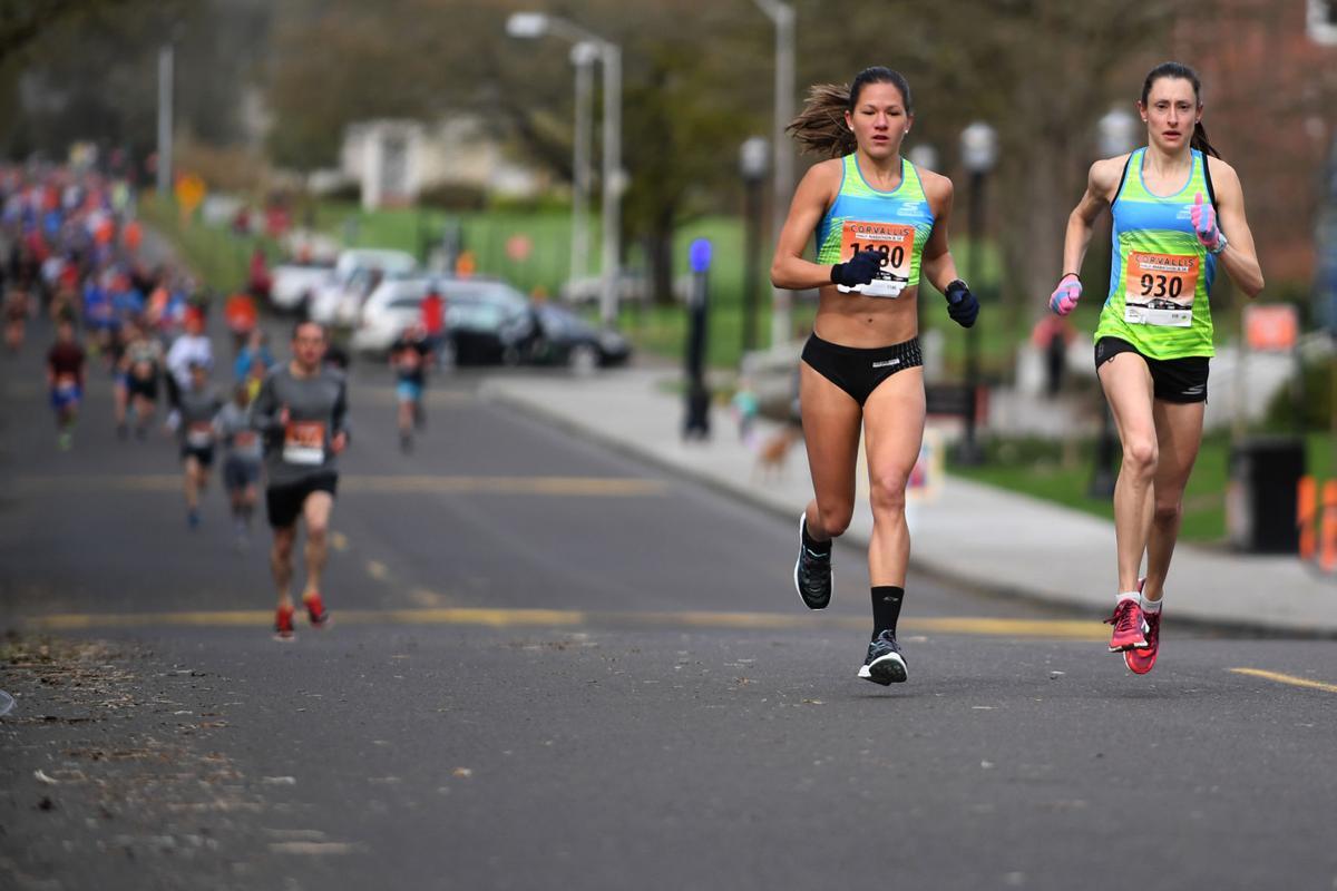 Kristen Rohde, right, with HPW Elite Teammate Tara Welling. (photo: Gazette Times )