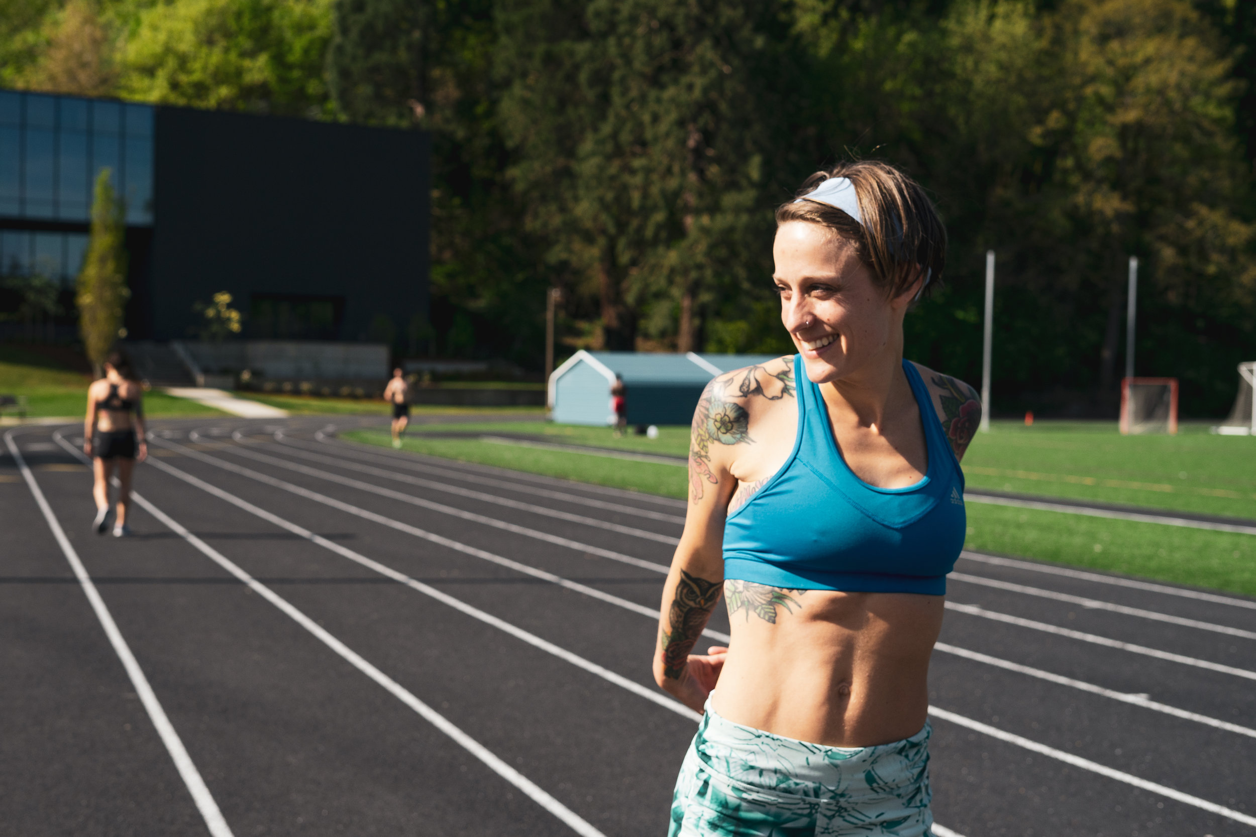 Former NAIA national Champion in the 10,000m and 5,000m, Karlee Coffey.