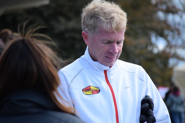 Coach Kevin Hanson of the Michigan based  Brooks Hansons Olympic Development distance team.