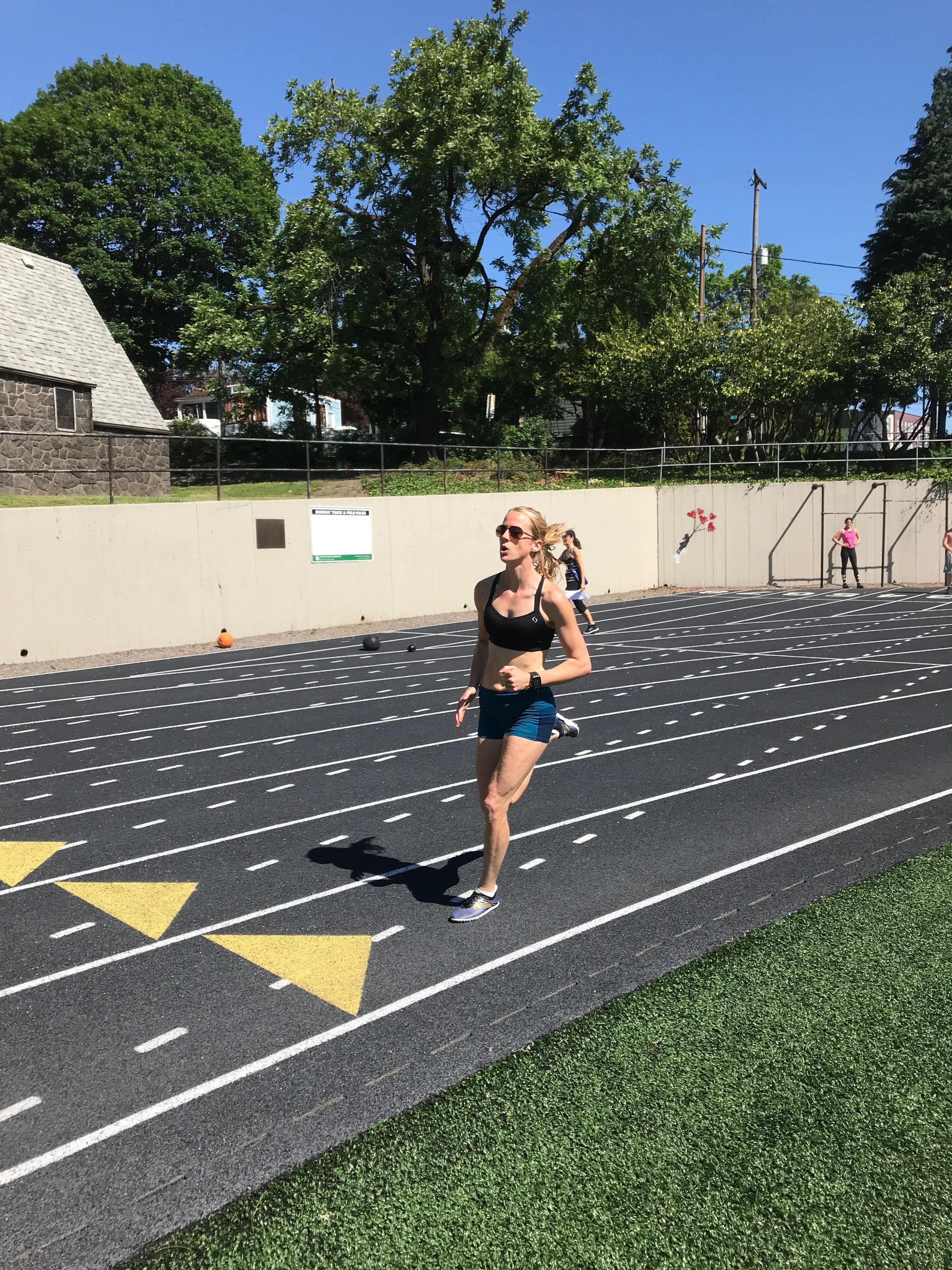 High Performance West 800m club record holder (2:01.29) McKayla Fricker.