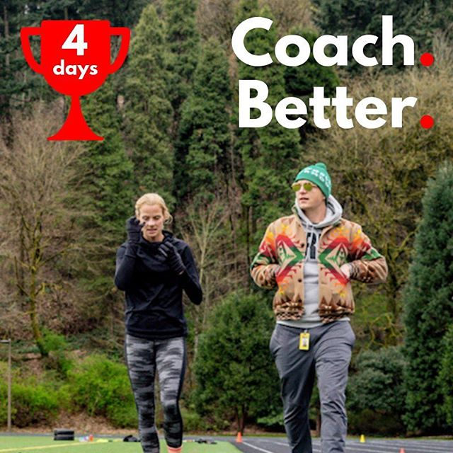 "🏆 ""The best coaches never tire in their enthusiasm to help their athletes get better."" — @jmarpdx, HPW Director 4️⃣ In four days HPW returns to help coaches better help athletes. 📲 Click link in bio to get notified. 🤝 See you on March 20th, 2019!"