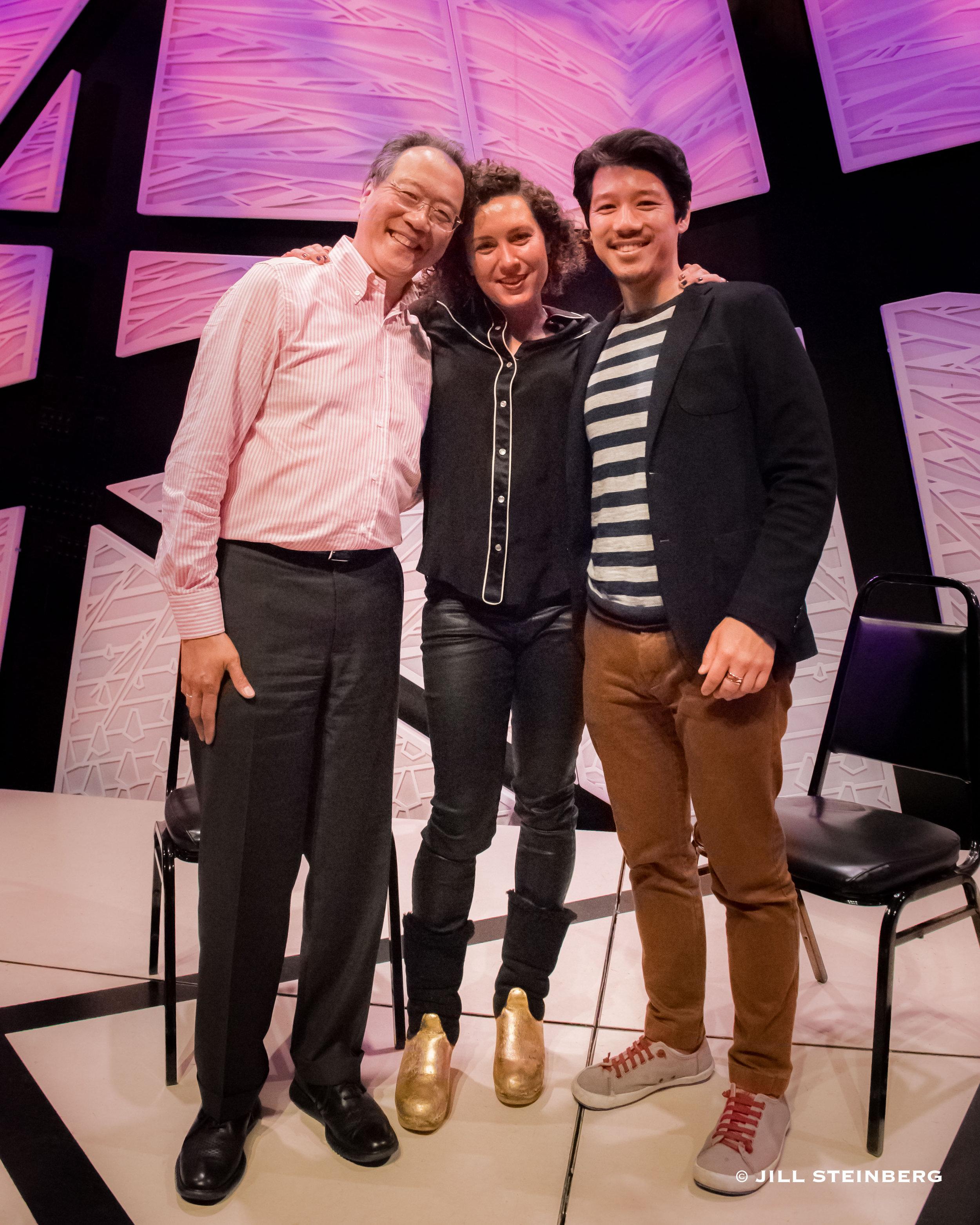 With Yo-Yo Ma and Maria Popova | Photo by Jill Steinberg
