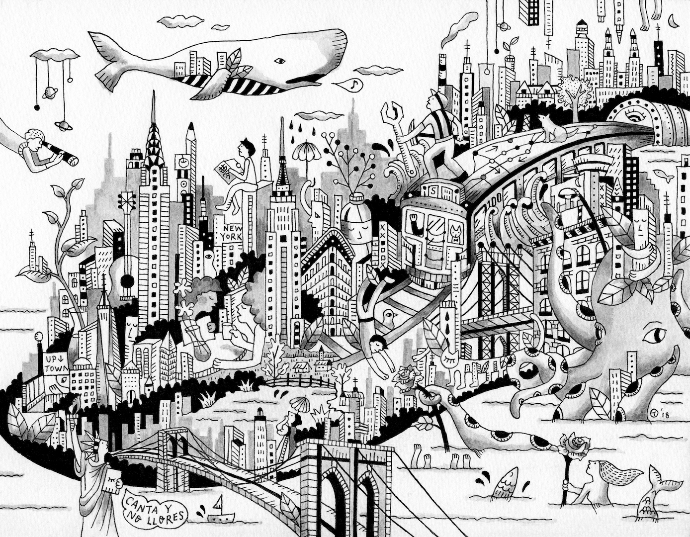 Original commissioned artwork for  Such Strange Gravity  by   Tomoyo Hiroishi