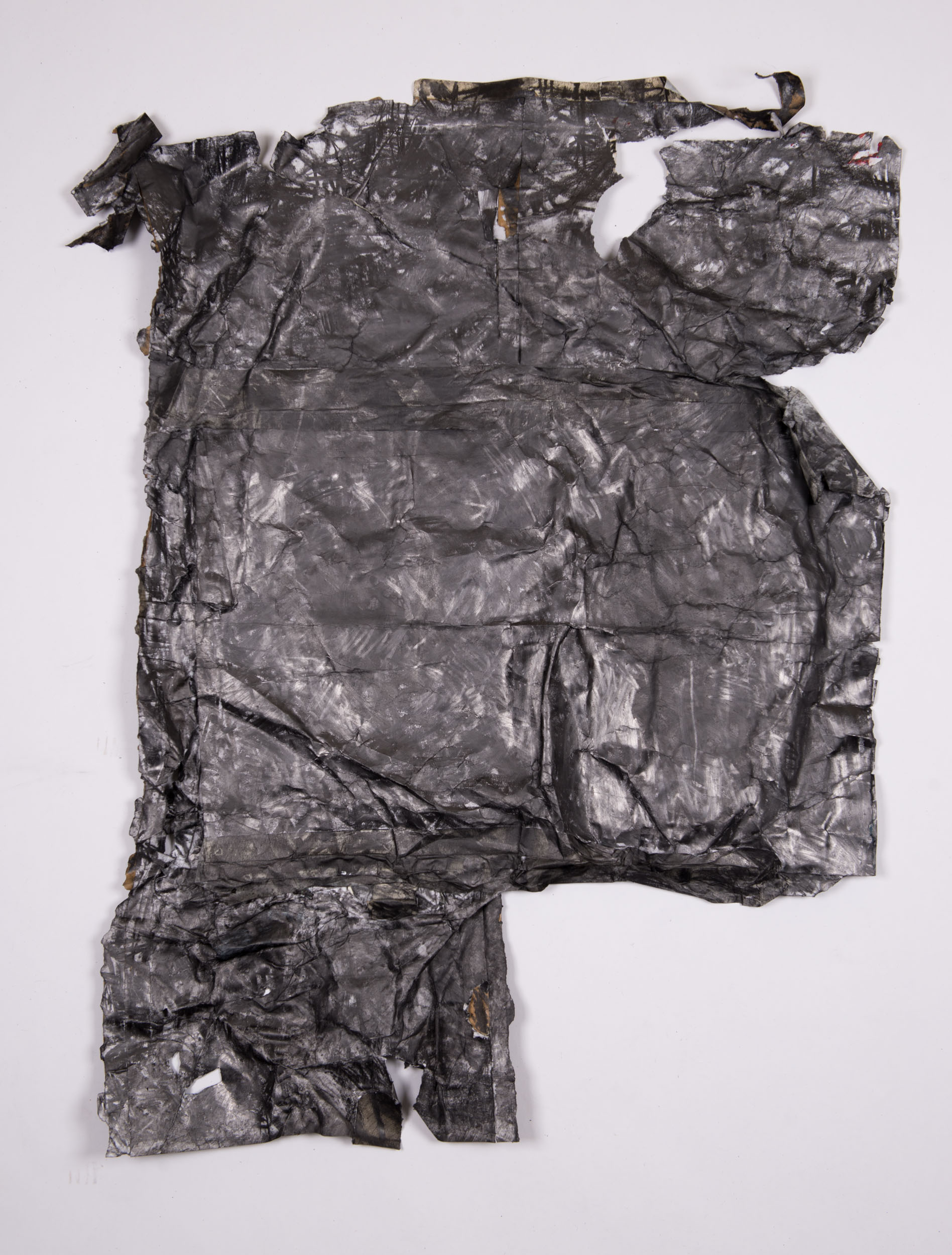"""Arisen"" Collage, tape, graphite on paper, 86 x110 cm."