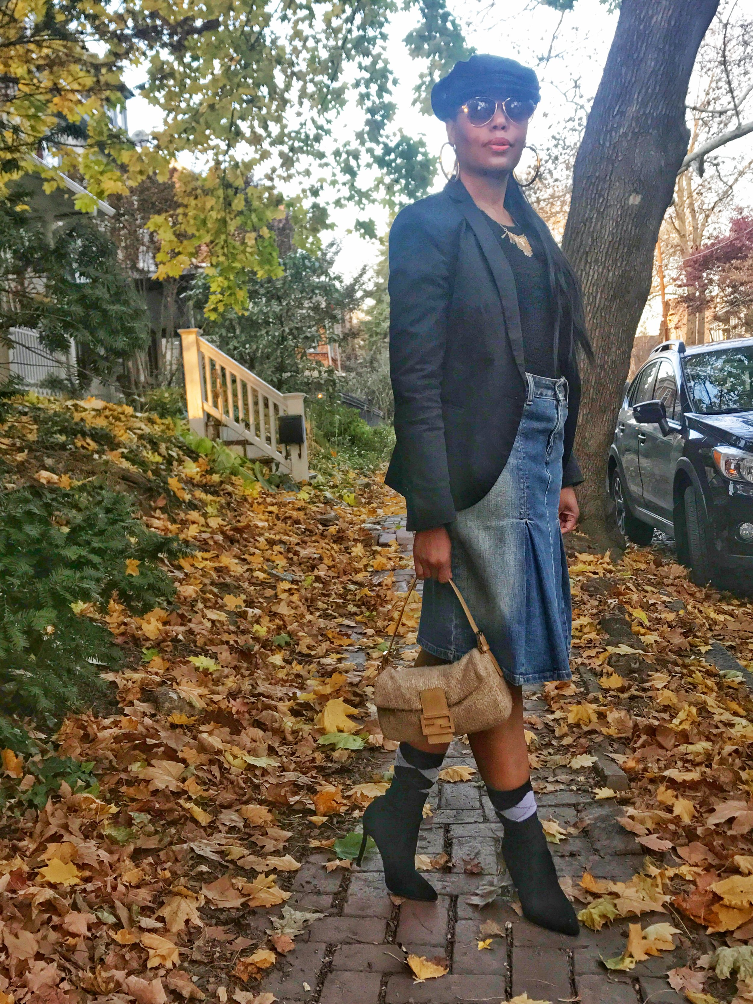 How-To-Transition-A-Denim-Skirt-For-Fall