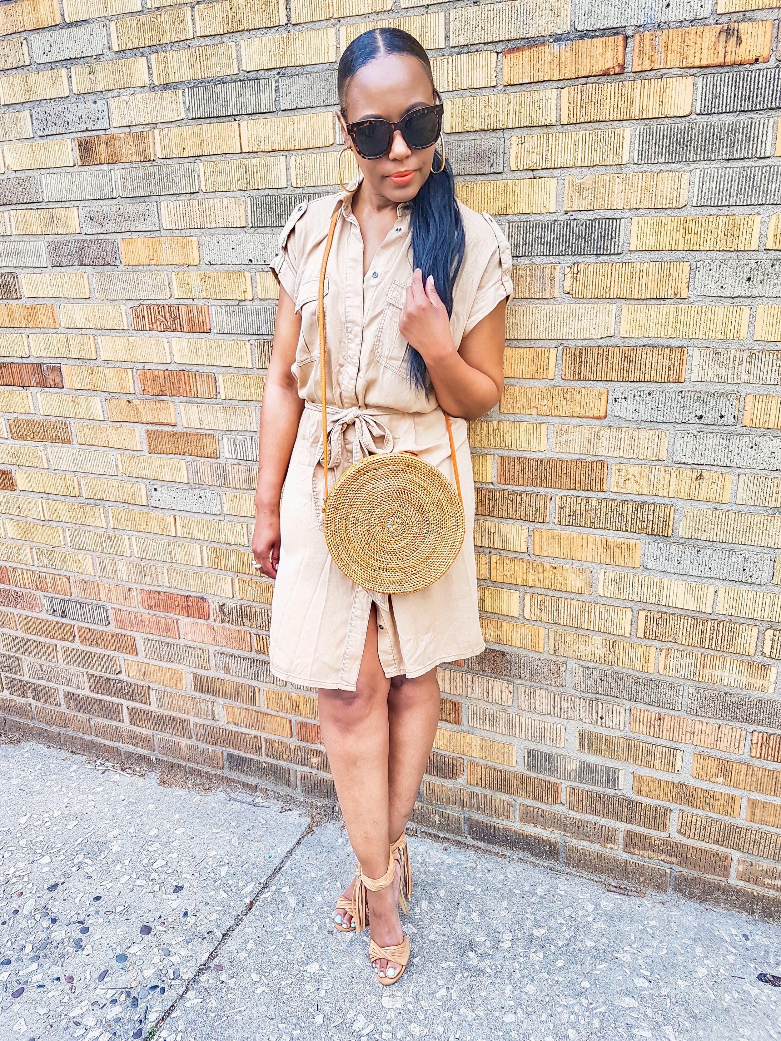 Dress: H&M(thrifted) Bag: Amerii