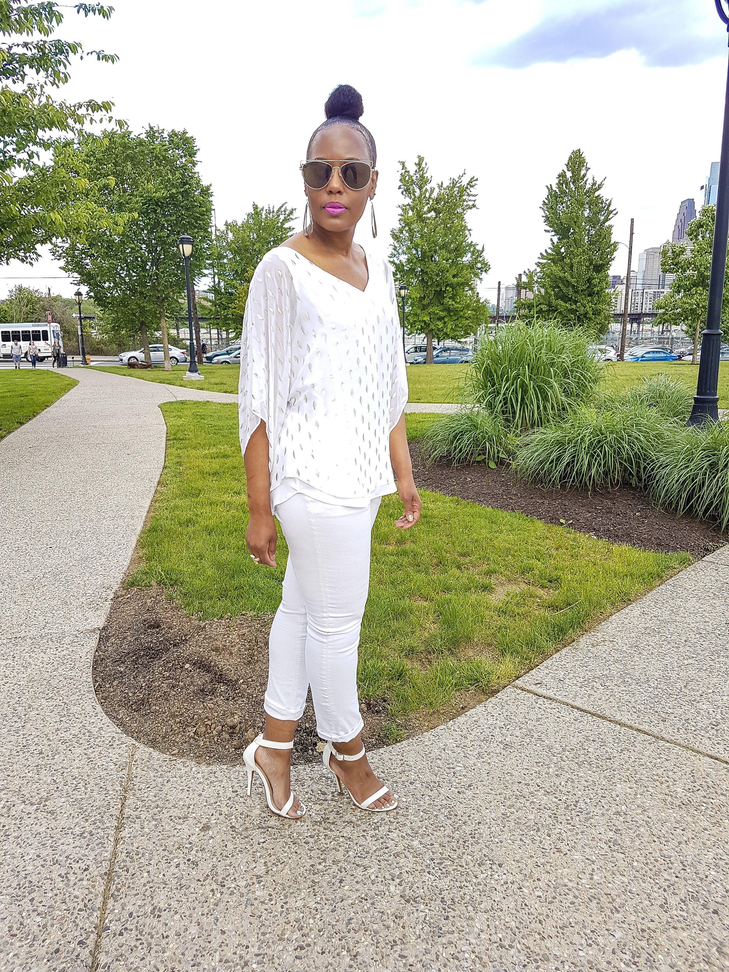 Blouse: White House/Black Market (thrift) Jeans: Primark (old)