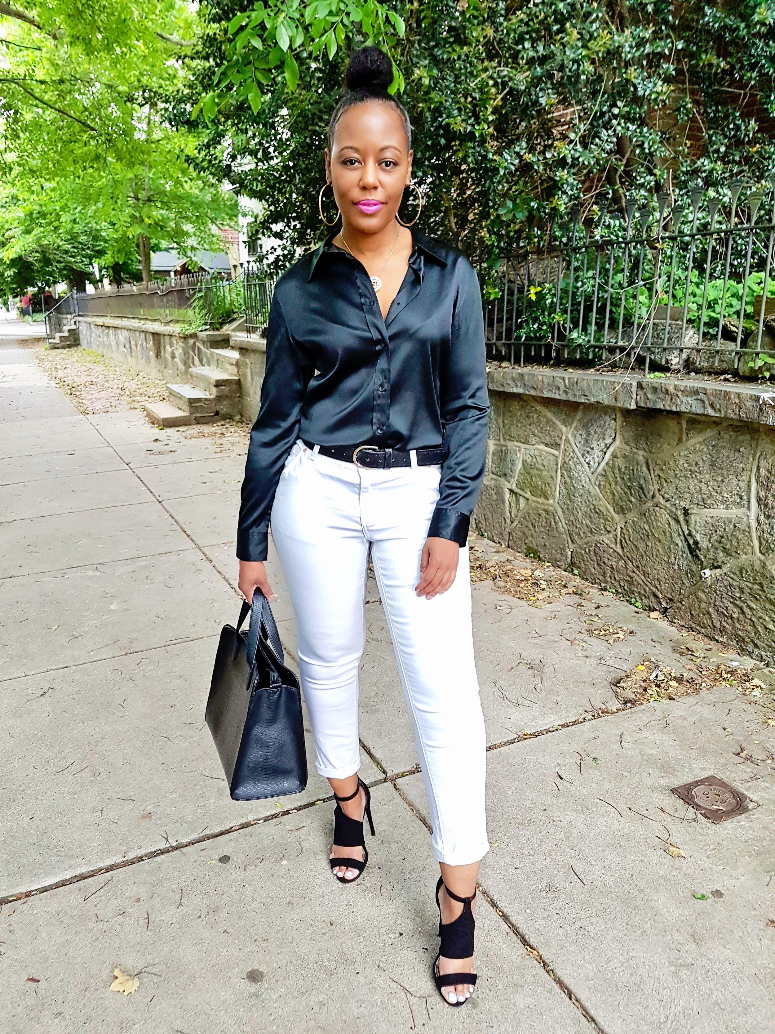 Silk Blouse: Gap (thrift) Jeans: Primark (old)