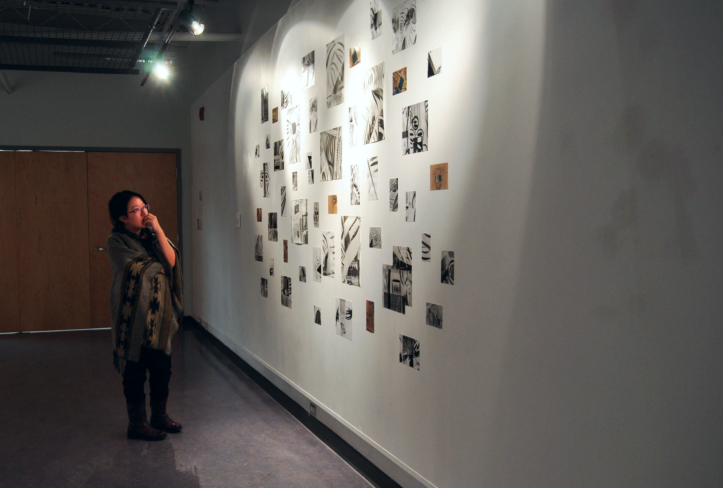 """Fragments Re-Imagined (Installation View),  72x120"""", Silver gelatin prints, 2014, Mallory Donen, UFV Building C, Room C1401, Abbotsford, BC"""
