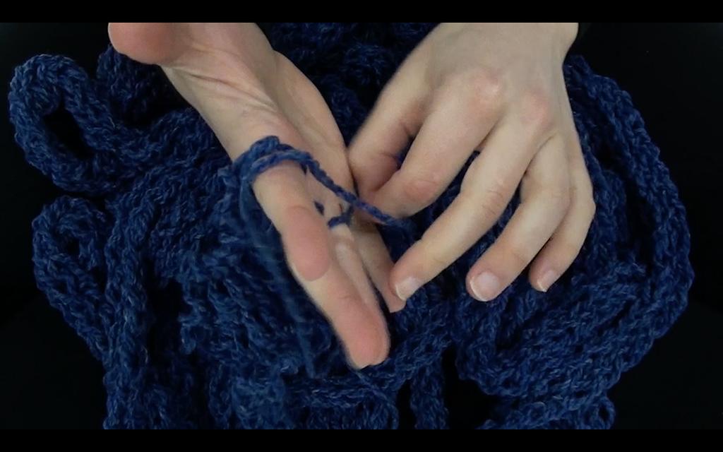 The Machine: Knitting Ouroboros,  Video Still,Mallory Donen, 2017