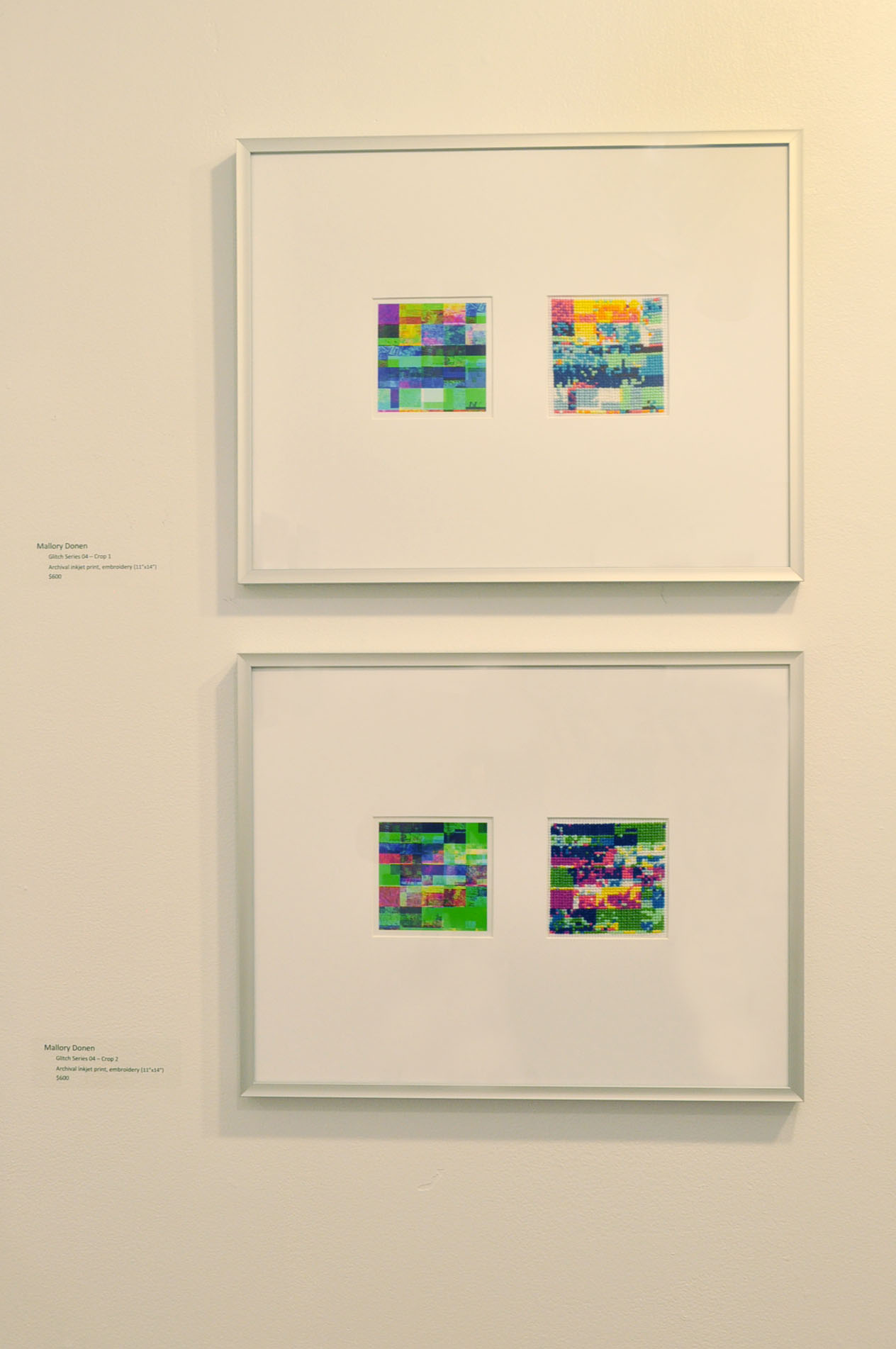 Glitch Series 04 - Crop_1.jpg  (top) &  Glitch Series 04- Crop_2.jpg  (bottom), inkjet prints, embroidery floss, Aida cloth, 11x14 inches (each)