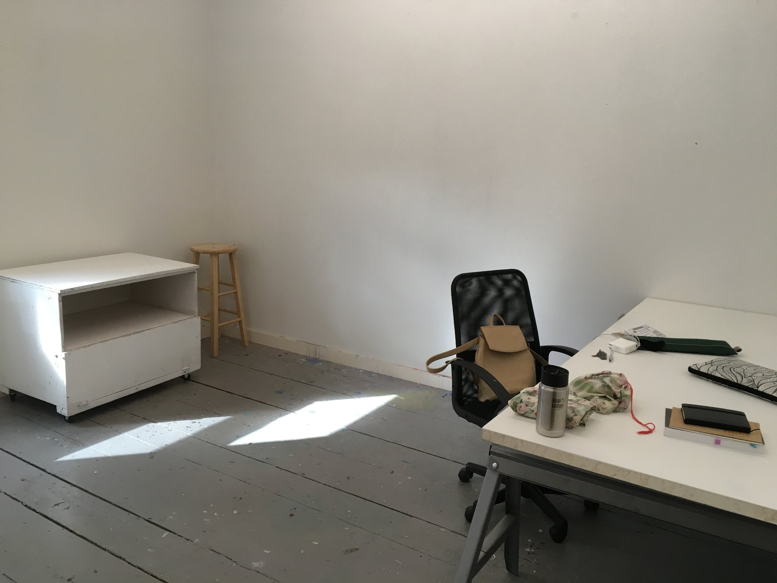Photo of the studio before the work began.