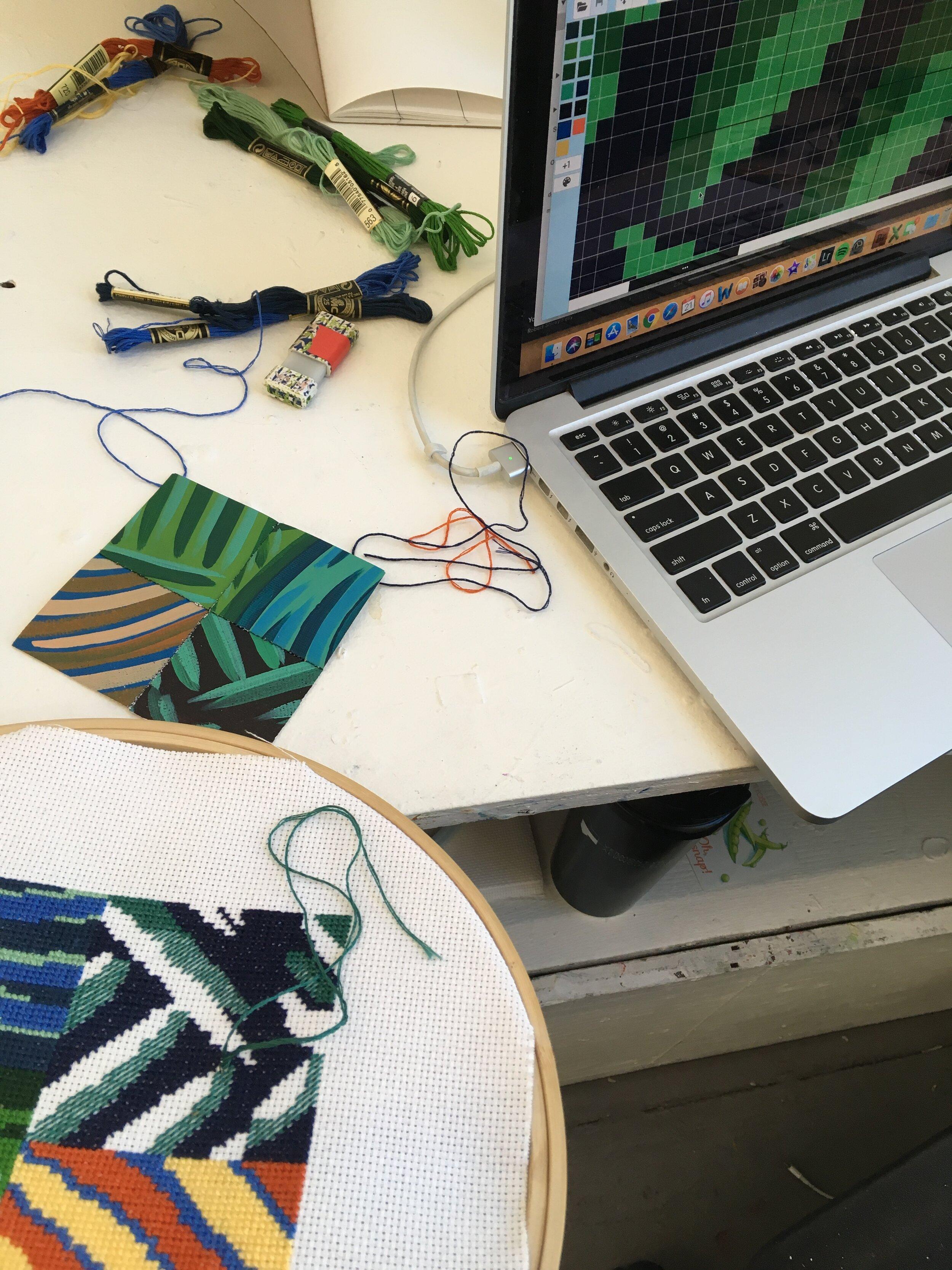 Translation #3 - Cross-Stitch , work in progress.