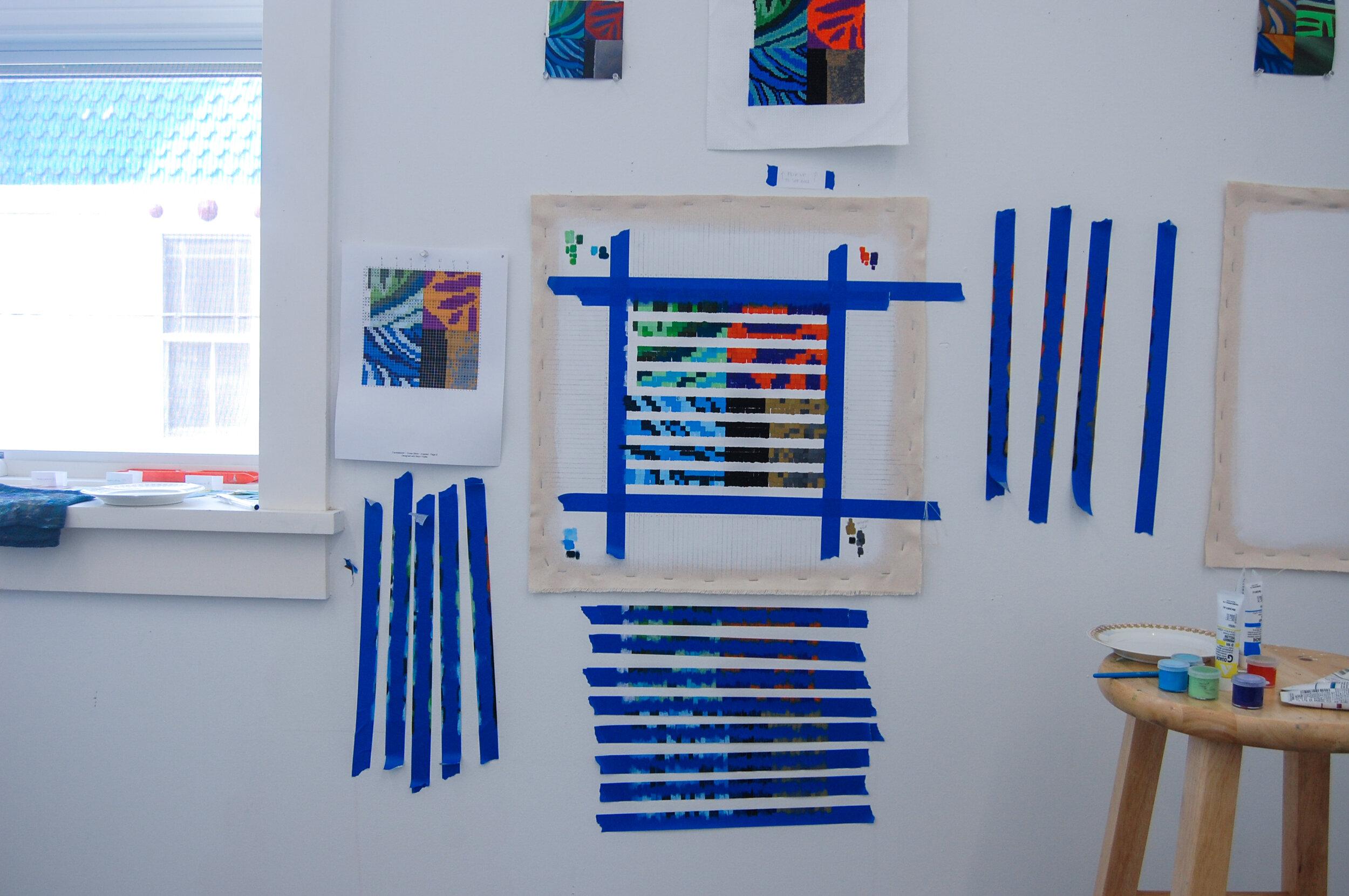 Translation #1 - Gouache Painting , work in progress.