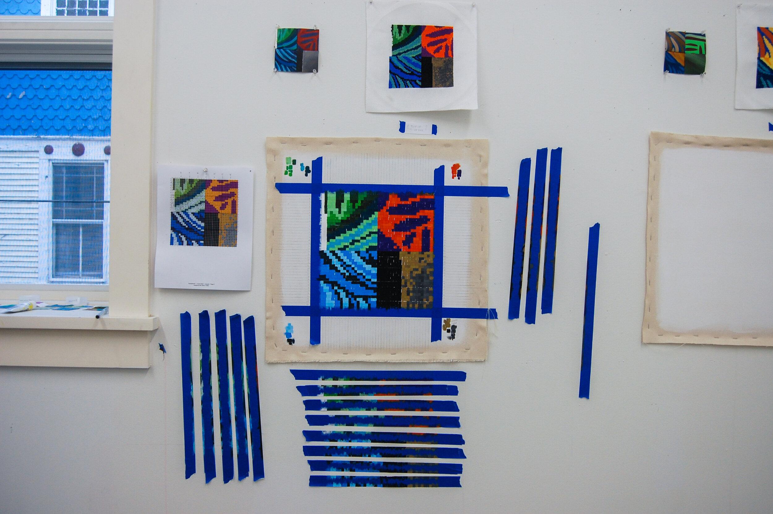 Translation #1 - Gouache Painting , 2019, gouache, canvas, 10 x 10 inches