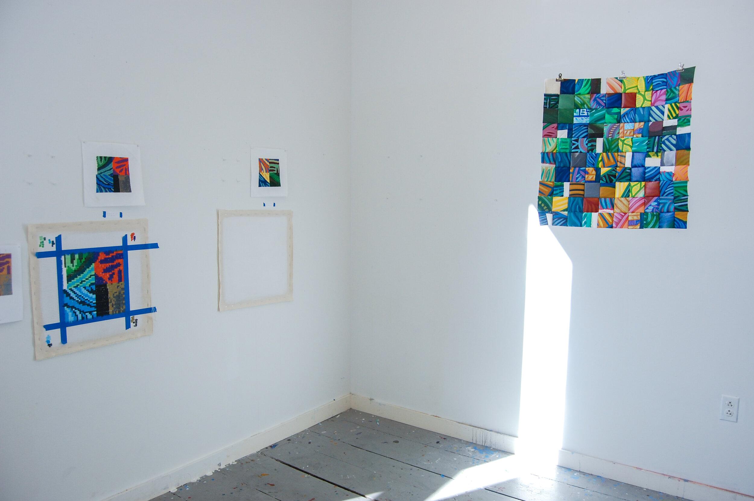 Installation shot , Open Studios, Vermont Studio Center, Johnson, VT, 2019