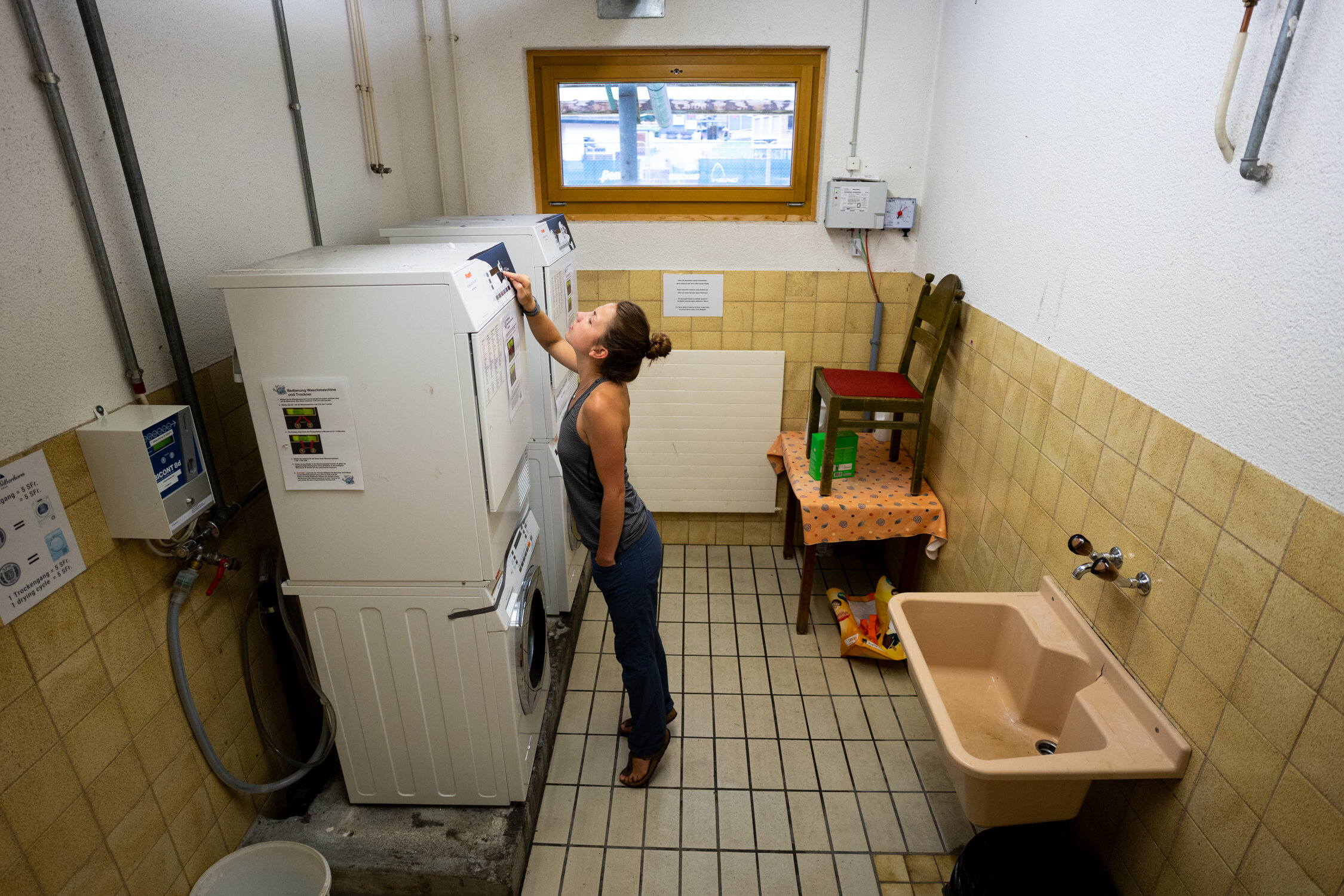 Warning: You'll spend more money on the dryer in Wengen than you will on food. Don't wash your clothes in the shower & expect them to dry on the climbing rope hung in your room in a town that has high humidity…