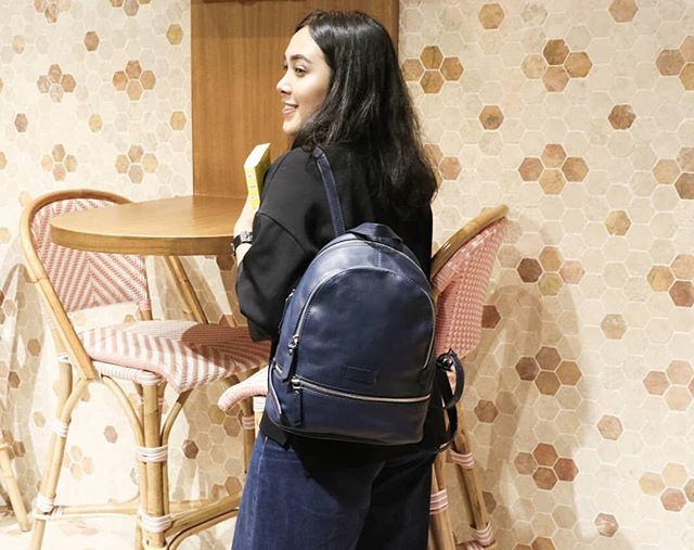 LIEBESKIND Berlin Essential backpack is perfect for busy days when all you need are the essentials. Made from supple  textured-leather, this navy version is punctuated with the house's stamped logo and hardware. Get yours at @urbaniconstore . Mall of Indonesia, Ground Floor .  #moi #mallofindonesia #urbaniconstore #urbaniconstyle #backpack