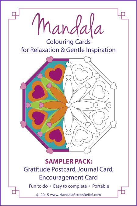 Sampler Pack AVAILABLE NOW:  Includes 1 Gratitude Postcard, 1 One-Line Journal Card, 1 Encouragement Card. ($4.99 USD) BONUS: Tips Card.  Learn more/ORDER.