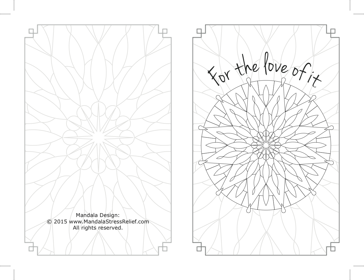 """Back & front of blank notecard,custom design.""""It was an even bigger hit than I expected,"""" the Coordinator reported."""