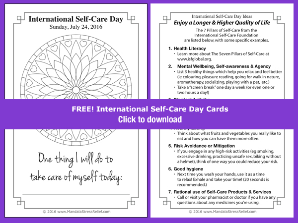 A FREE colouring card based on a mandala from the  One-Line Journal  series. Also includes a list of the 7 Pillars of Health Care with some specific examples.