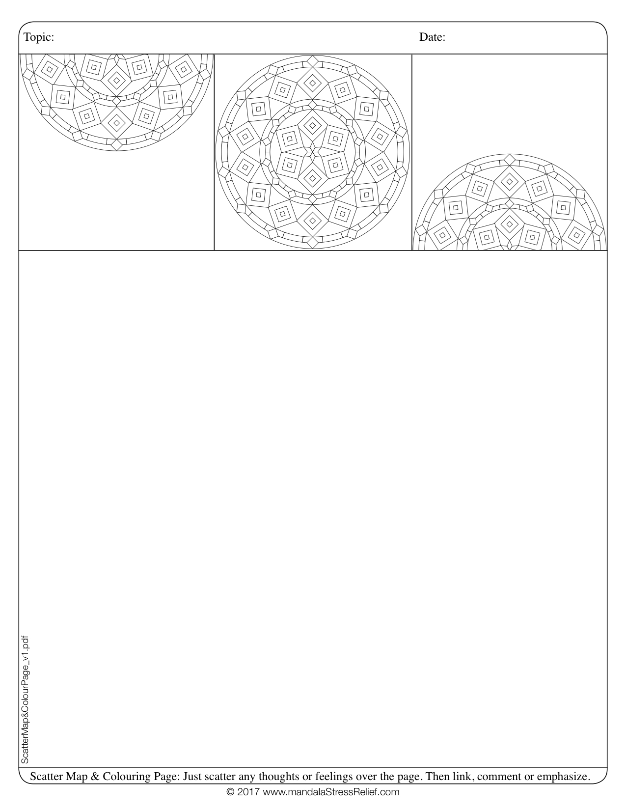 Download  this free Scatter Map & Colouring Template Page.