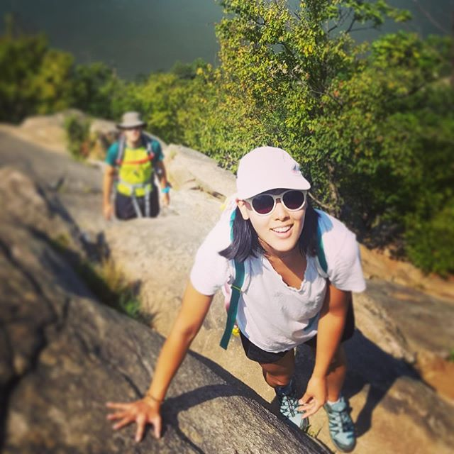 Hiking that was much harder than I was mentally prepared for. But totally rewarding! #hiking #breakneckridge #morelikerockclimbing #newyorklife #summerinnewyork #actorslife #nycactor #nycactress #japaneseactress