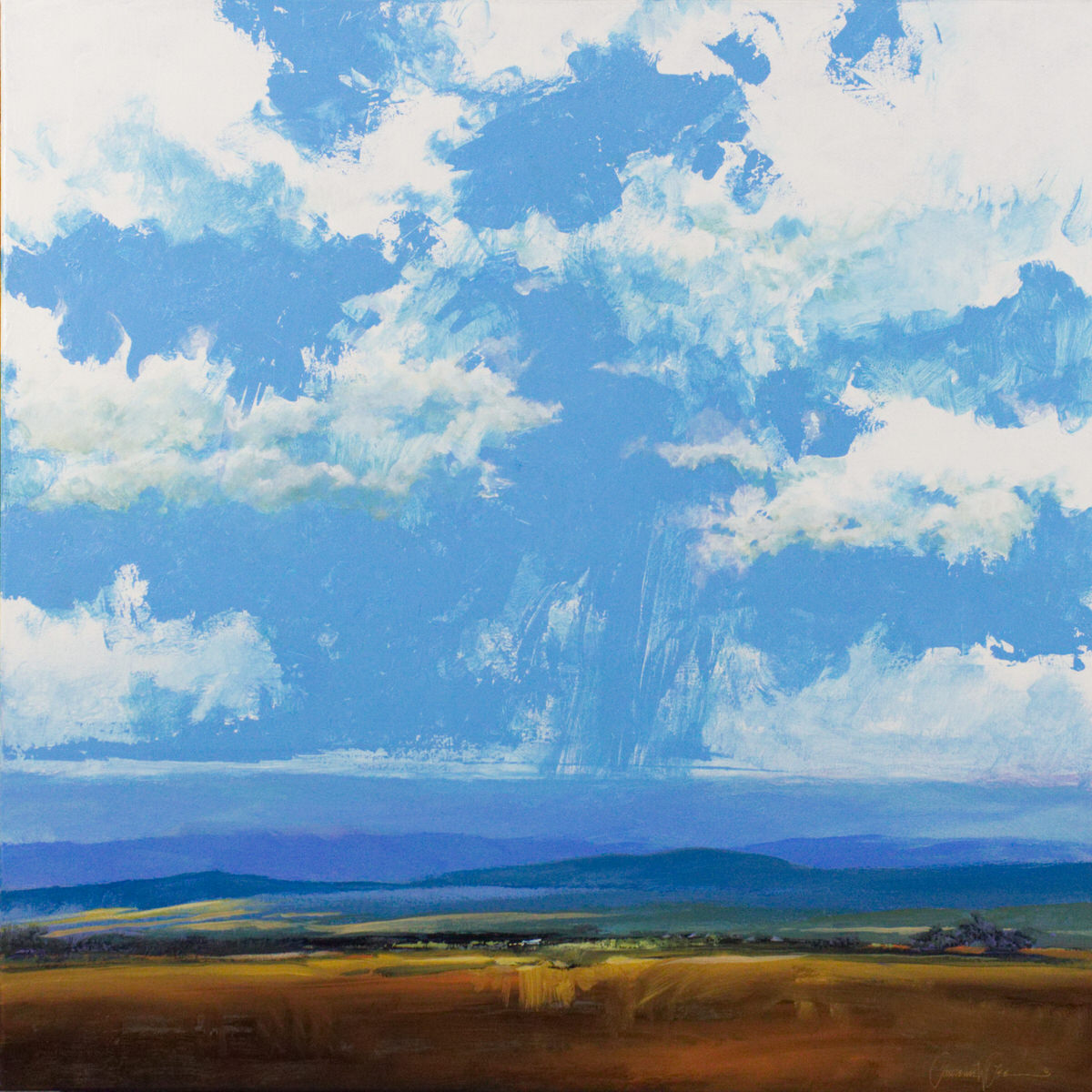 """My Arizona Sky"" 36""x36"" Acrylic on canvas. [SOLD]"